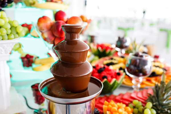 Banqueting per cerimonie: fontana cioccolato
