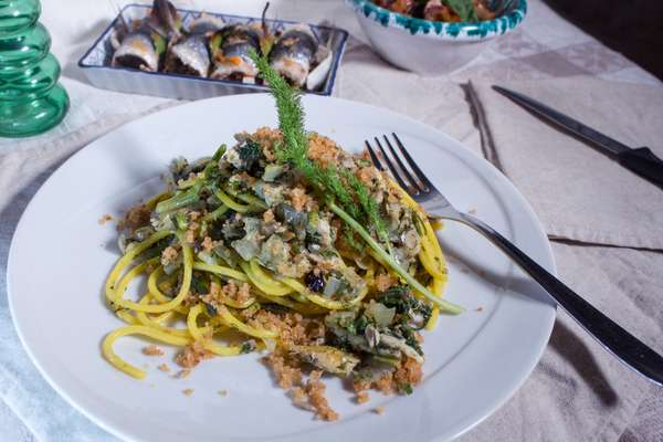 cucina siciliana: pasta alle sarde