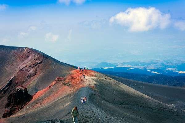 Trekkers sull'Etna